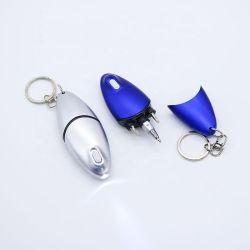Herramienta de reparación de Creative Mini Bolígrafo Luz LED con llavero