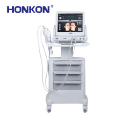 9 cabezales de tratamiento Hifu Ultrasonido de eliminación de arrugas de la máquina Salón de medicina