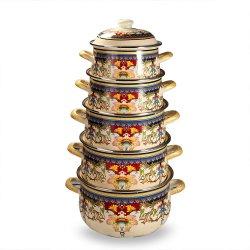 I POT e le vaschette di campeggio pieni della cucina di Deco hanno impostato il POT dell'acqua calda da vendere nell'insieme del Cookware