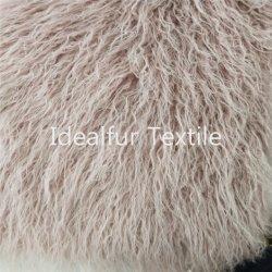 Alta pila retardante de llama Fake Fur mongol