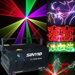 4.8W RGB Volledige Scanner 30k/40k van de Laser van de Animatie van de Kleur Lichte met het Geval van de Vlucht voor Laser toont/overlegt Verlichting Lighting/DJ