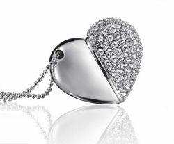 ギフトのDiamond Heart Shape USB 4G 8g