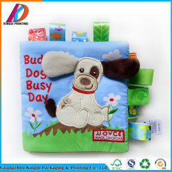 Animais de desenhos animados educativos Pano Bebé Soft livros para crianças