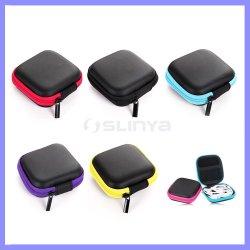 Sacs à fermeture à glissière carrés EVA accessoires de téléphonie mobile la clé de l'argent Sac de rangement pour écouteurs Câble de boîte de sac à main