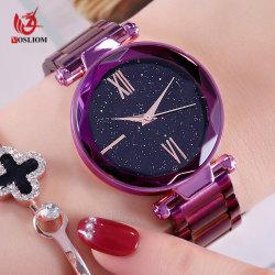 Custom дешевые дамы поверхности кристалла кварца наручные часы № V896