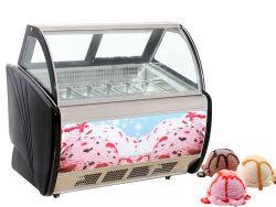 Vetrina italiana del gelato del carrello del gelato con la vetrina molle del gelato dei cassetti