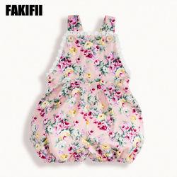 Desgaste Infantil personalizada de fábrica da flora de algodão Jumpsuit Bebé Kids Romper roupa de verão