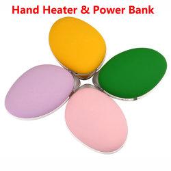 外部力バンクのポータブルのヒーターが付いている再充電可能なマンゴ手のウォーマー