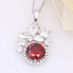 Cool jóias folheadas a cor do ródio Pendente Zircon Cúbicos