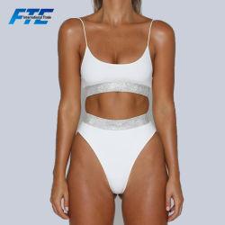 Hohe Taillen-Badebekleidungs-Qualitäts-Form-Großhandelsbikinis eingestellt