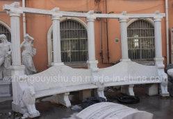Lion Sculpture Sculpture sur pierre marbre naturel en banc de jardin