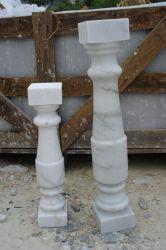 Colonne Polished della colonna di marmo bianca di Guangxi