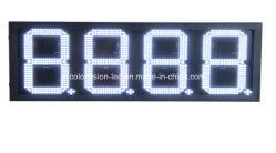 """8 """" /10 """" /12 """" weißes LED Preiskalkulations-Zeichen der Tankstelle-für Mexiko-Markt"""