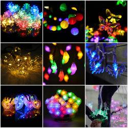 Décoration de lanterne 20 chaîne solaire LED multicolore de feux de 4,8m chaîne à billes étanche global de la corde de l'éclairage de vacances de fée de plein air