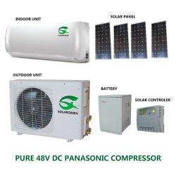 9000BTU 12000BTU 48V fuera de la red 100% de la energía solar Aire Acondicionado Portátil