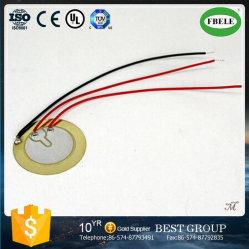 Banheira de vender 35mm avisador sonoro de cerâmica piezoeléctrica com três fios de
