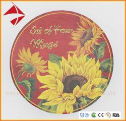 stellte keramischer Kaffee-Tee-Becher des Porzellan-4PCS ein,/keramischer Becher,/die Kaffeetasse, die in Farben-Kasten eingestellt wurde