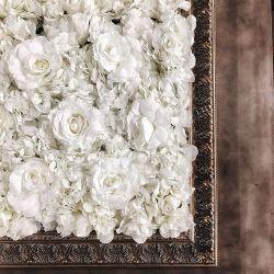 Une fleur artificielle de gros mur Personnalisée mariage Toile de fond fleurs de soie véritable Touch Latex soie rose fleur décorative pour mariage decoration