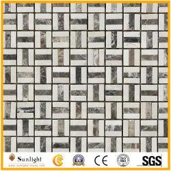 Usine fournisseur en gros les carreaux de mosaïque carrés mur de pierre