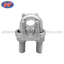Haito 304/316 en acier inoxydable à faible coût DIN741 Wire Rope Clips avec finement poli