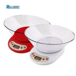 Verwijderbare Kom voor het Meten van Gewicht van Schaal van de Keuken van de Schaal van het Voedsel van het Fruit de Elektronische Digitale