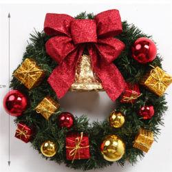 Guirlande décorative artificielle des couronnes de Noël en PVC de plein air gerbe de fleurs