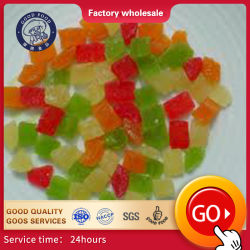 Orgánico personalizable Snack seco saludable forma de rodajas de fruta natural proceso de conservación de la salmuera