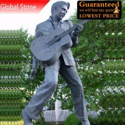 Vida Tamanho personalizado Musican famosa figura de Bronze Estátua de Elvis Presley Escultura (GSBR-107)