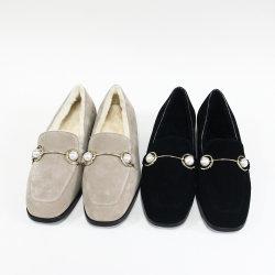 Mais novo da remessa em materiais macios Soft Plush Sole Flat Inverno Casual Sapatas quentes do mercado de moda calçado para senhora