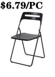 Pratique de la réunion de plein air en plastique à bas prix de l'acier chaise pliante empilable