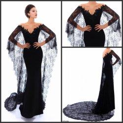 La dentelle noir robe de soirée robe de bal de gaine châle Mermaid 2018 Ld11558