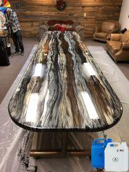 Cola de resina epóxi Crystal Clear para tabelas do Rio Madeira