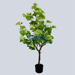 인공적인 나무 은행나무 잎 옥외와 실내 정원 장식적인 51379를 위한 화분에 심는 120cm Bonsai 플랜트