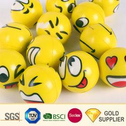 Großhandel Bulk Custom Logo weich PU Schaum Anti Stress Ball Maßgeschneiderte Erwachsene Gehirn Runde Squeeze Reliever Fußball-Kid Medical Schlot Spielzeug für Werbegeschenk