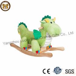 Presidenza di oscillazione molle divertente dell'animale farcito del giocattolo del drago di guida del bambino