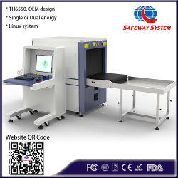 Th6550 이중 에너지 중간 크기 X-레이 수하물 및 소화물 검사 보안 선별 검사 기계 - 최대 공장에서 저렴한 가격으로 OEM 설계