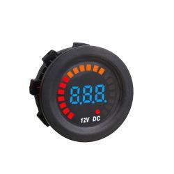 Voltmetro di Digitahi segmentato supporto Analog dell'automobile di CC 12V del comitato con tensione di corsa grafica del LED