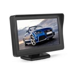 """4.3 """" 바람막이 유리 마운트 2 영상을%s 가진 차 모니터 TFT LCD 색깔 주차 스크린은 뒷 전망 백업 사진기를 위해 입력했다"""