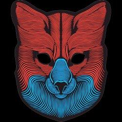 LED Masque Masque Animal Parti masque son activé