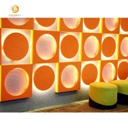 Materiale decorativo per interni fibra di poliestere striscia di luce acustica ecologica