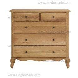 キャビネット居間の純木の整理箪笥のためのヨーロッパの旧式で無作法な様式型の再生の家具