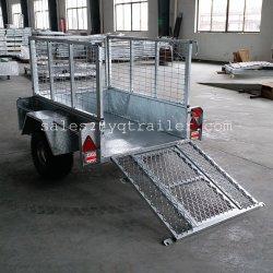 5X3 totalmente soldada ATV Farm Reboque com rampa de malha e Gate