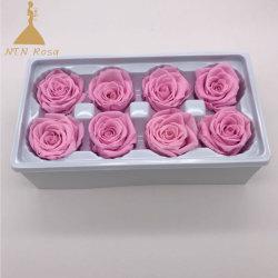 4-5cm는 8개의 헤드 결혼식 꽃 중앙 장식품 배열을%s 보존한 실제적인 장미를 찌른다