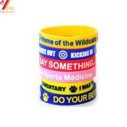 Пользовательский логотип отражает силиконовый браслет для спортивного события дешевые религиозных домашней уютной атмосфере браслет дешевые Custom Браслеты для событий