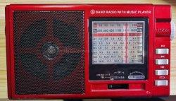 La banda de AM/FM Multi portátil SW Radio con reproductor de MP3 USB SD