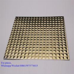 Panneau décoratif Tôles en acier inoxydable gaufré et la plaque de 201 304 316 Grade