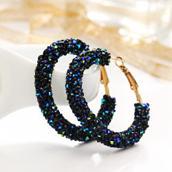 Modern und Simple Personality Retro und Exaggerated Earrings Circle Crystal Earrings Earrings Pendant