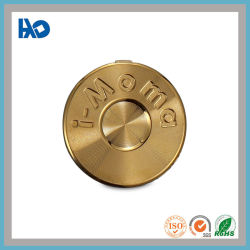 Технология высокого класса круглой формы, тиснение логотипа гарнитуры Gold металлическая пластина
