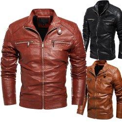 China proveedor OEM de pieles de cuero de alta calidad para hombres ropa de abrigo Chaqueta Shearling Precio