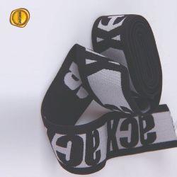 Fascia elastica stampata marchio del nero di larghezza di Sinicline 2.5cm per la biancheria intima